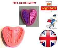 Haute qualité ailes d'ange moule silicone fondant cake topper modelling tools