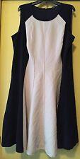 NEW Mynt 1792 Black/Beige, Flare Dress, Size 20 Plus  $178
