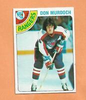 DON MURDOCH  TOPPS 1978-79 CARD # 11 RANGERS