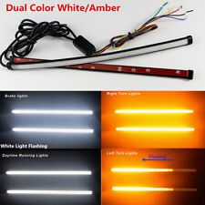 30cm Dual Color Switchback Flowing Car DRL Turn Signal Brake Flash Strobe Light