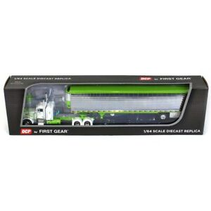 1/64 White & Green Peterbilt 379 Sleeper With Refrigerated Trailer DCP 60-0711