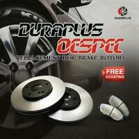 [Front OESpec Brake Rotors Ceramic Pads] Fit 06-08 Audi A3 Quattro