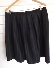 Cue Women's Grey Stripe Skirt - Size 12