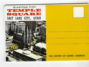 POSTCARD FOLDER-TEMPLE SQUARE-SALT LAKE CITY, UTAH