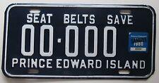 Prince Edward Island 1980 SAMPLE License Plate HIGH QUALITY # 00-000