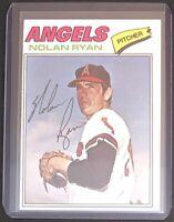 NOLAN RYAN 1977 TOPPS VINTAGE BASEBALL CARD #650 - ANGELS