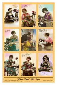 Singer Sewing Machine Company WOMEN BEHIND THEIR SINGER