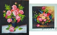 """New completed finished cross stitch""""Classical flowers Vase""""gift sale"""