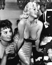 Sophia Loren and Jayne Mansfield nip slip sex symbols movie star 8x10 photo