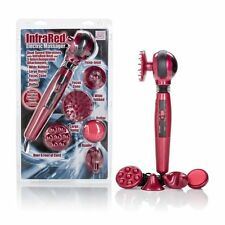 Handheld Infrared Heated Electric Personal Massager Wand with 5 Attachments