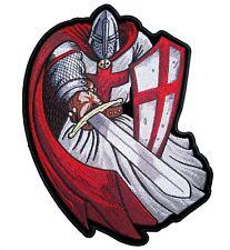 Christian Templar Knight Crusader W espada Parche Bordado Rojo