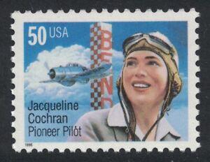 Scott 3066- 50c Jacqueline Cochran, Pioneer Pilot- MNH 1996- unused mint stamp