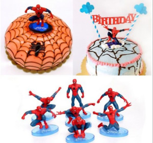7X Spiderman Cake Scene Birthday Decorations Toppers STAND UP Figure Decoration