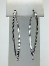 "New 925 Solid Sterling Silver 2"" inches Long Twisted Drop Earrings 4.9 grams"
