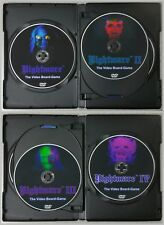 Nightmare I II III & IV / 1 2 3 & 4 Video Board Game Video Tape DVD Combo Pack!