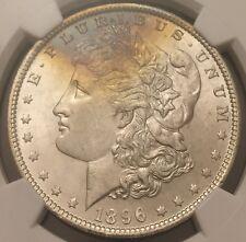 1896 Morgan Dollar Rainbow Toned NGC MS-65, Buy 3 Get $5 Off!! R6297