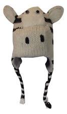 ZEBRATE ZOO 100% LANA BUFFO ANIMALE Knit Hat taglia unica NATALE Festival / Sci
