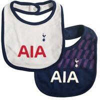 Tottenham Hotspur FC 2 Pack Baby Bibs Football Team Spurs Supporter Baby Shower