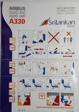 Airlines safety card - SriLankan Airlines A330