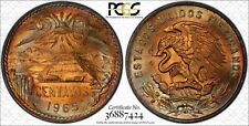 1965-Mo 20 CENTAVOS PCGS MS65RB COLOR TONED COIN!