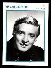 Oskar Werner Star Portrait carta - 80er anni Top + G 17030
