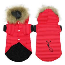 Hundebekleidung Hundemantel Hundejacke Welpen Winterbekleidung Hoodie Rot XS