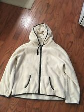 2da98bedad06 American Eagle Ladies Full Zip White Jacket Fleece Hoodie - XL