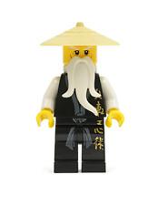 Lego Sensei Wu (Black Robe) 2507 2521 2255 Ninjago Minifigure