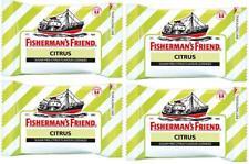 4 packs x 25g. Fisherman s Friend CITRUS Flavour Lozenges Sugar Free Candy