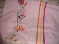 SHABBY COTTAGE PURPLE DUVET COVER SHAM ORANGE FLOWERS TWIN PARIS APT CHIC