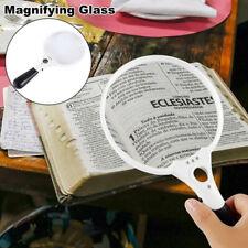 Extra Large LED Handheld Magnifying Glass 2X 4X 25X Lens Illuminated ReadingWZI