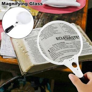 Extra Large LED Handheld Magnifying Glass 2X 4X 25X Lens Illuminated ReadinUTWR