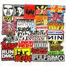 100PCS Stickers Lot Rock Band Punk Music Heavy Metal Bands Laptop Car Bumper