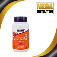 Now Foods Vitamina D-3 alto potencia 1000 IU 360 cápsulas blandas   soporta Sistema inmunológico