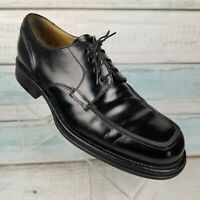 Bacco Bucci Mens Black Leather Lace Up Loafers Shoes Size 12 ITALY