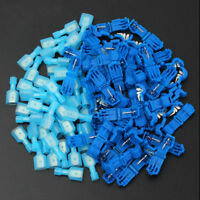 50x Electrical Cable Fast Quick Splice Lock Wire Connector Crimp AWG 18-14 Blue