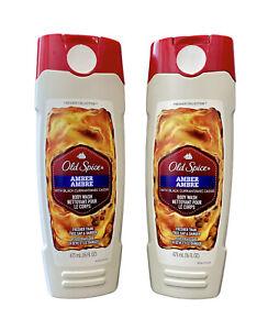 LAST ONE!!!!!!!! (2) Old Spice AMBER Body Wash Black Currant 16oz Each