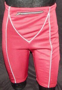 NWT Prettylittlething Stretch Shape Burgundy Zip Pocket Cycling Yoga Shorts Sz 8