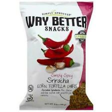 Way Better Snacks Simply Sprouted Simply Spicy Sriracha Corn Tortilla Chips, 5.5