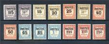 Monaco 1937 set 14 postal surcharges on postage dues mint  (2014/06/19#12)