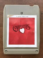 Carpenters A Song For You 8 Track Tape Cartridge UNTESTED