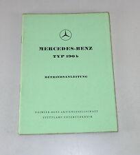 Manuale di istruzioni/owner'S MANUAL MERCEDES w121 Ponton 190 B STAND 07/1959