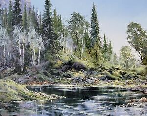 """Doug Oliver, """"Canyon Creek"""", poster, 22""""h x 28""""w, signed or unsigned"""