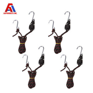 "1//4/""  Adjustable Pulley Clip Hanger Kayak Home Use Ratchet Rope Tie Down Strap"
