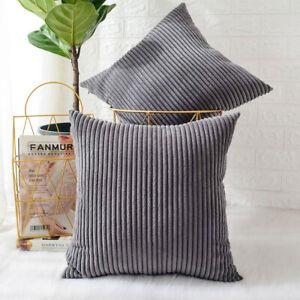 2 XJumbo Cord Cushion Cover Soft Feel Pillow Case Home Sofa Bed Decor
