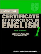 Cambridge Certificate of Proficiency in English 1 Student's Book with Answers: E