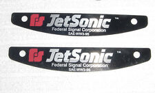 Federal Signal  JetSonic lightbar name plate NEW pair....