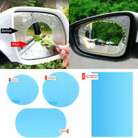 2Pcs Car Rearview Mirror Waterproof Membrane Anti-glare Anti-Fog Stickers