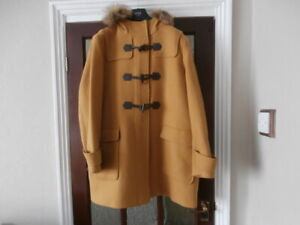 M&S WARM HOODED  Duffle   Coat In MUSTARD Size  22  New With Tags