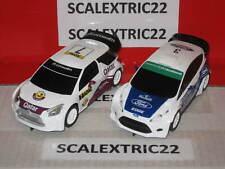 "Citroen DS3 ""Qatar"" y Ford Fiesta WRC EDGE SCALEXTRIC 1:32 rally experience"